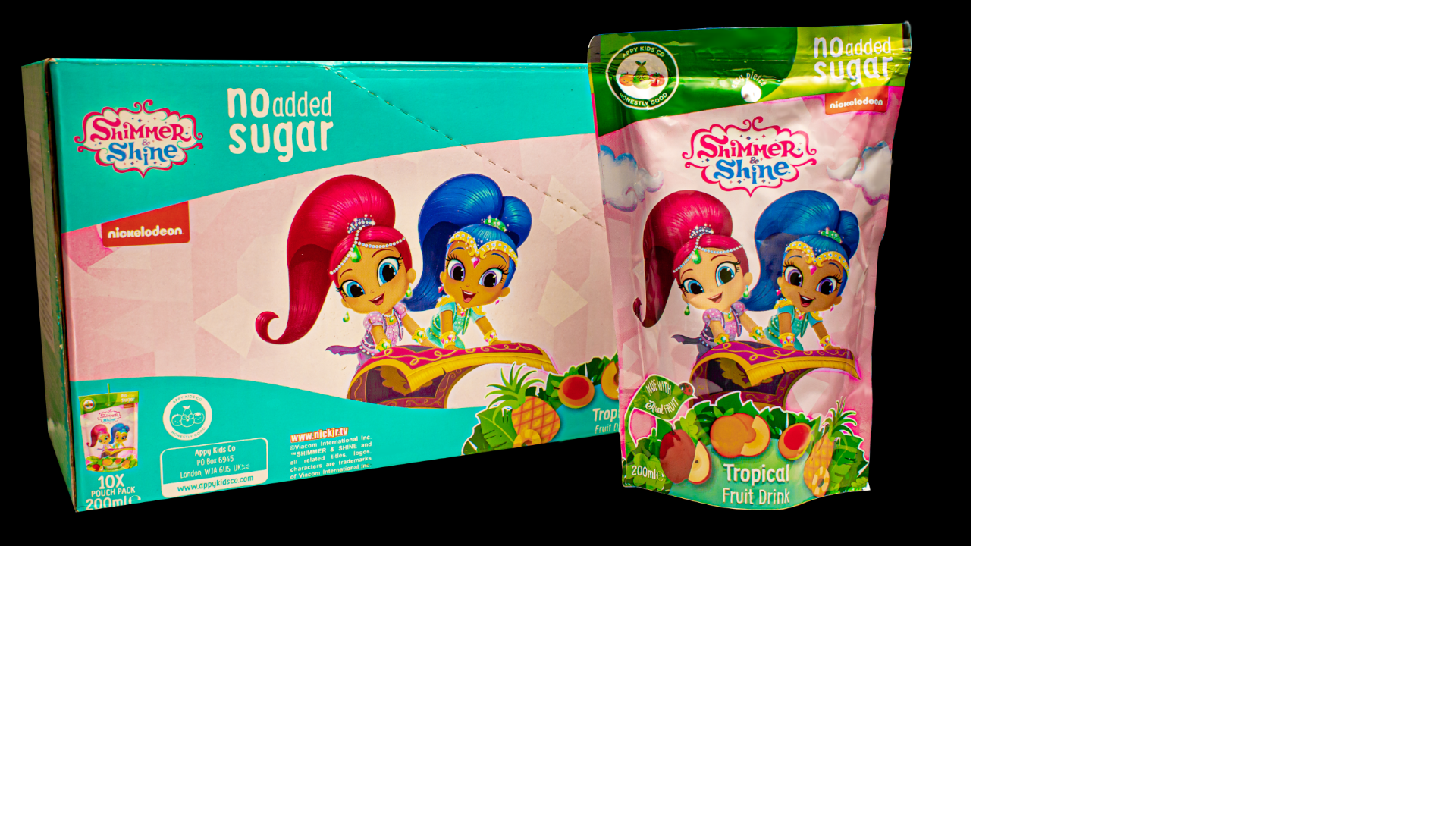 Shimmer and Shine Tropical Fruit Drink 10 x 200ml