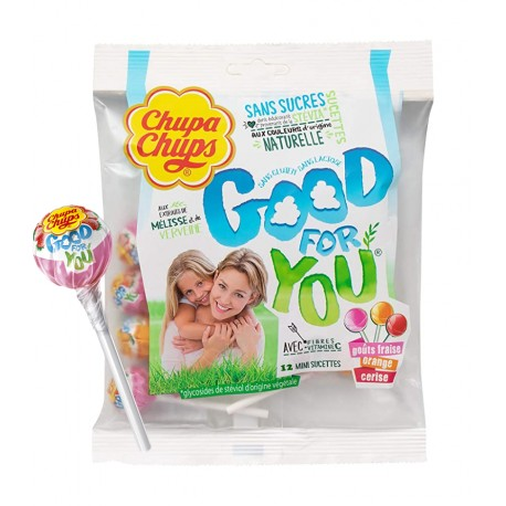 Chupa chups lízátka bez cukru Good for You 72g