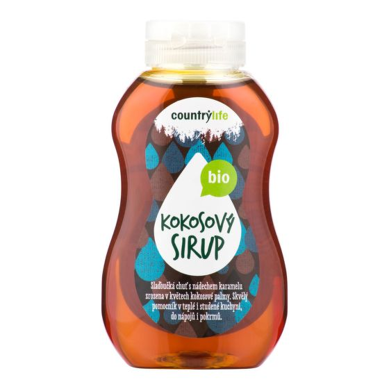 Sirup kokosový 250 ml  COUNTRY LIFE